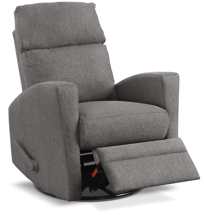 frozen flip sofa canada tufted leather nyc recliners leon s nina swivel glider recliner dark grey