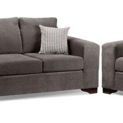 Cheap 2 Piece Living Room Sets Restoration Hardware Packages Leon S Fava Pc Package W Chair Grey
