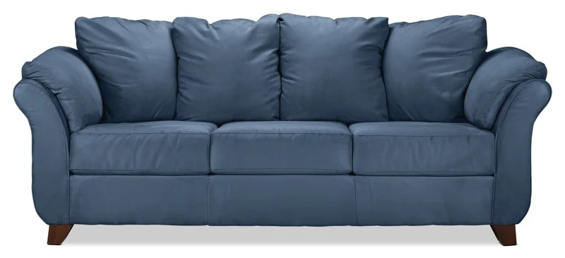 sofa covers for leather online cover pet sofas leon s sale collier cobalt blue
