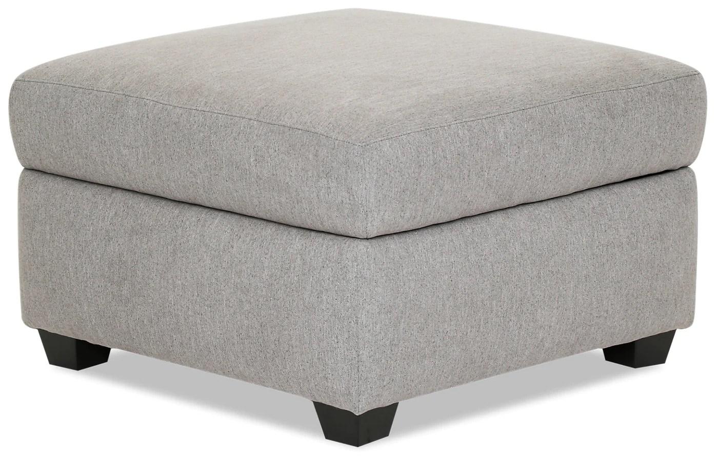 designed2b chenille square storage ottoman milo linen