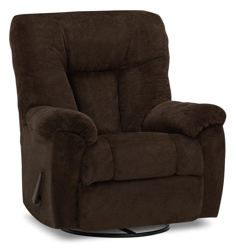lift chairs edmonton ab swivel chair nursery designed2b 4703 chenille rocker recliner earth chocolate fauteuil pivotant bercant et inclinable