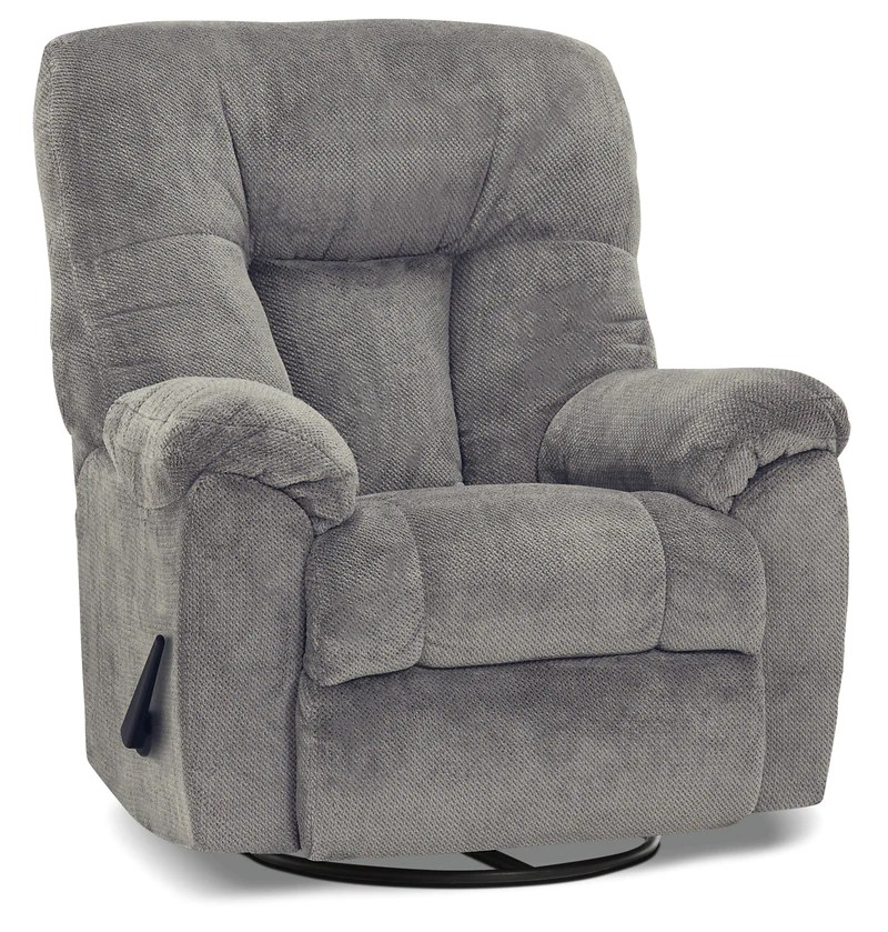 lift chairs edmonton ab wide seat recliner reclining the brick designed2b 4703 chenille swivel rocker earth slate fauteuil pivotant bercant et inclinable