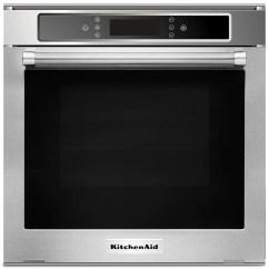 Kitchen Aid Ovens Cups Kitchenaid 24 2 6 Cu Ft Single Electric Wall Oven Kosc104fss Kosc104fssfour Mural Electrique Simple Po De Pi3