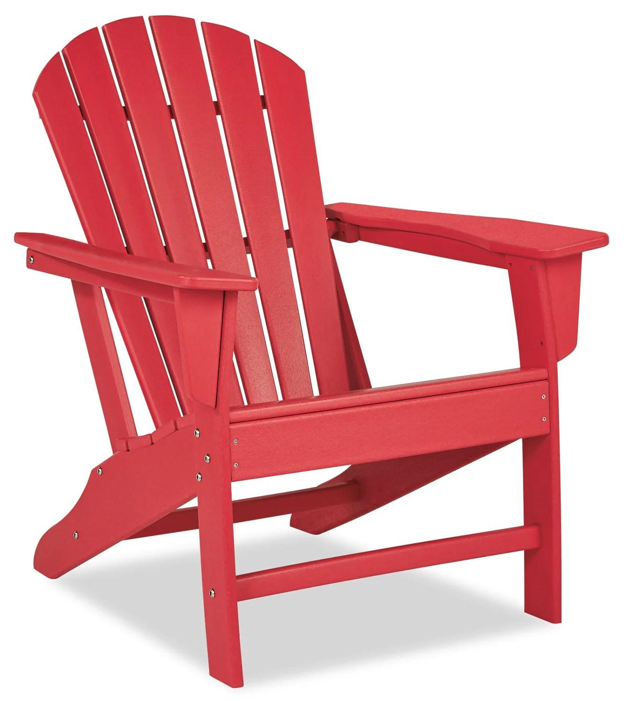 adirondack patio chair red