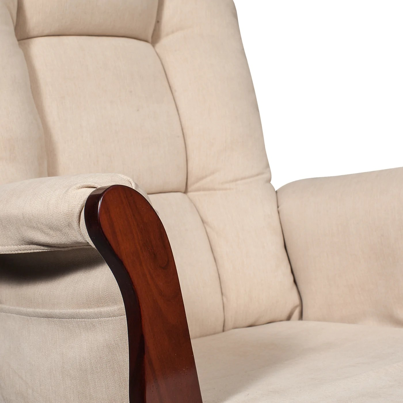 Gliding Chair Anita Microsuede Gliding Chair With Ottoman Espresso And Beige