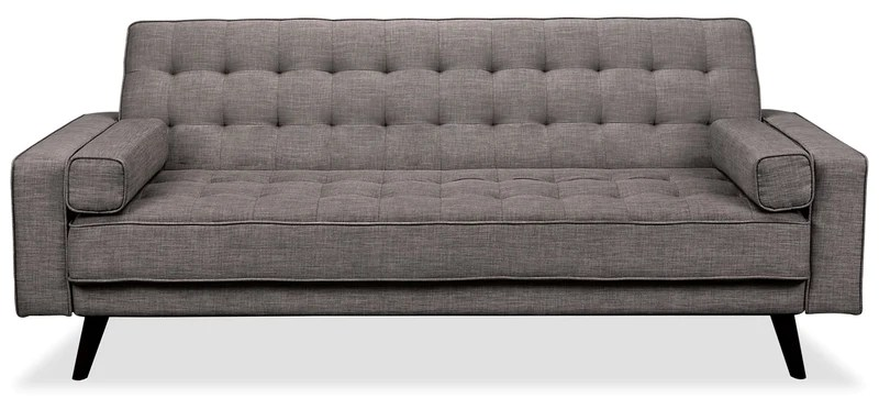 black sofa beds for sale stressless singapore and futons the brick avery linen look fabric futon grey en tissu d apparence