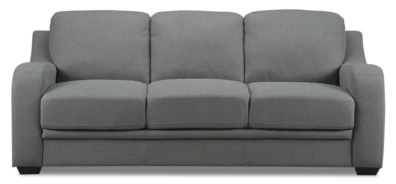 victoria clic clac sofa bed review kid pull out beds and futons the brick benson linen look fabric grey lit en tissu