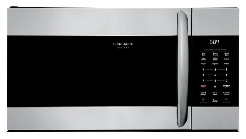 frigidaire gallery 1 7 cu ft over the range microwave cgmv17wnvf