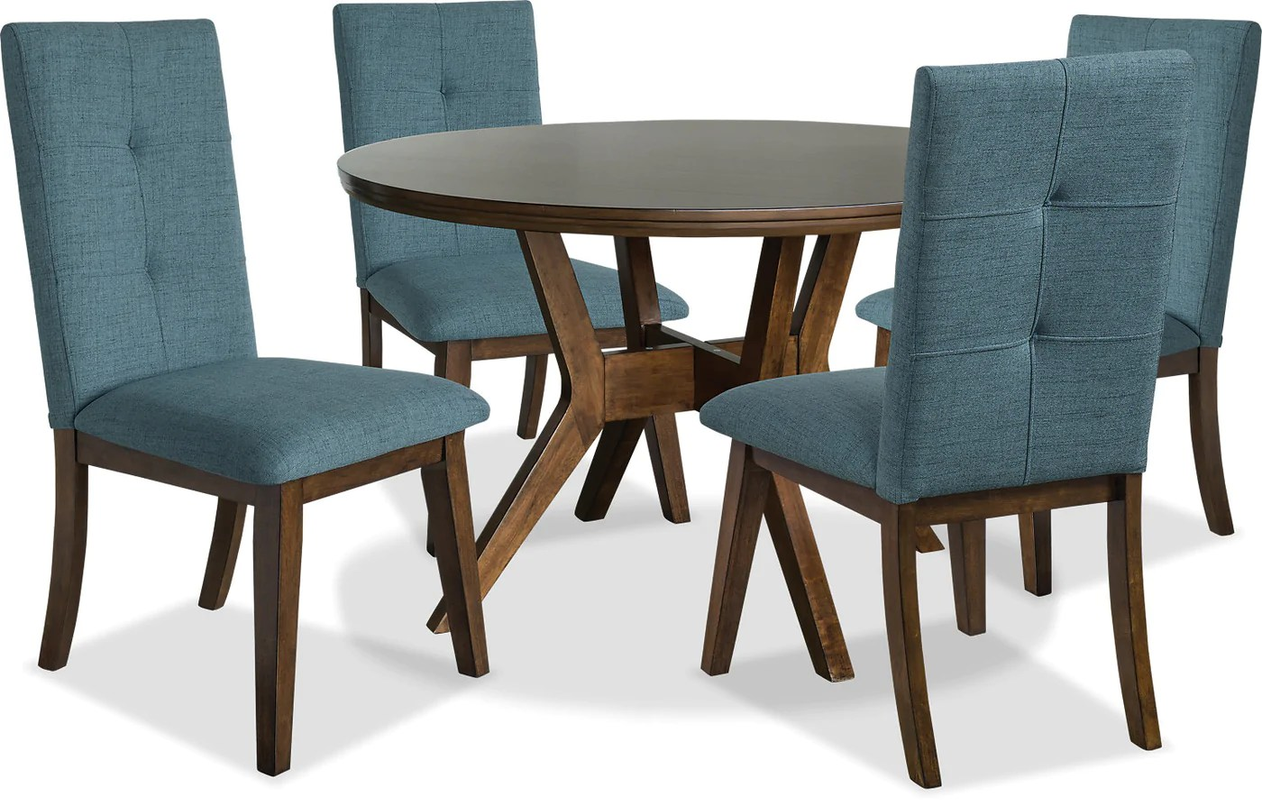 Aqua Dining Chairs Chelsea 5 Piece Round Dining Table Package With Aqua Chairs