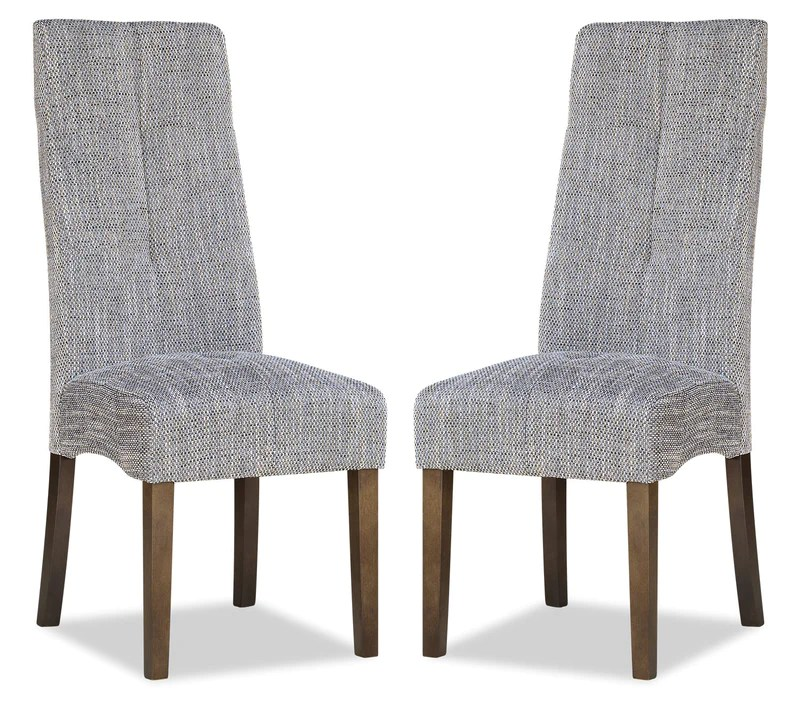 accent dining chairs desk chair booster cushion the brick maya set of 2 grey chaise de salle a manger