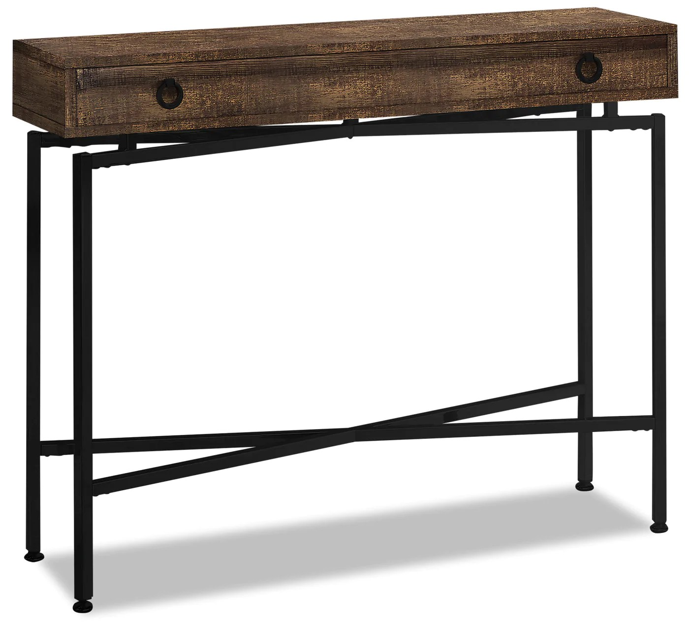 Harper Reclaimed Wood Look Sofa Table Brown