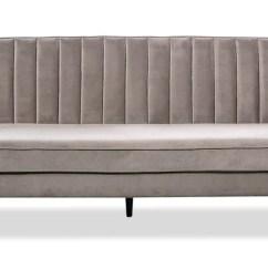 Chez Long Sofa Bed Small Foam Beds And Futons The Brick Lazarro Velvet Futon Grey En Velours Gris