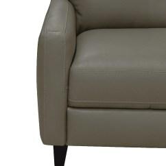 100 Genuine Leather Sofa Kincaid Furniture Reviews Milas Dove The Brick