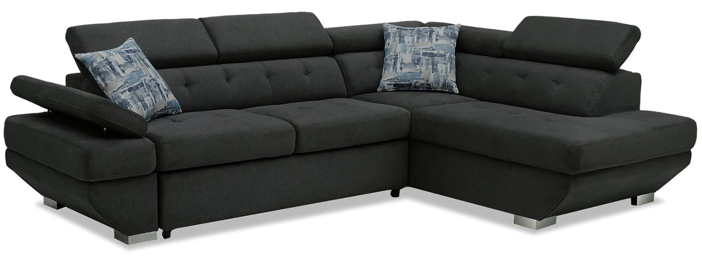 Otto 2 Piece Chenille Right Facing Sleeper Sectional ...