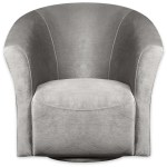 Tub Style Velvet Swivel Accent Chair Grey The Brick