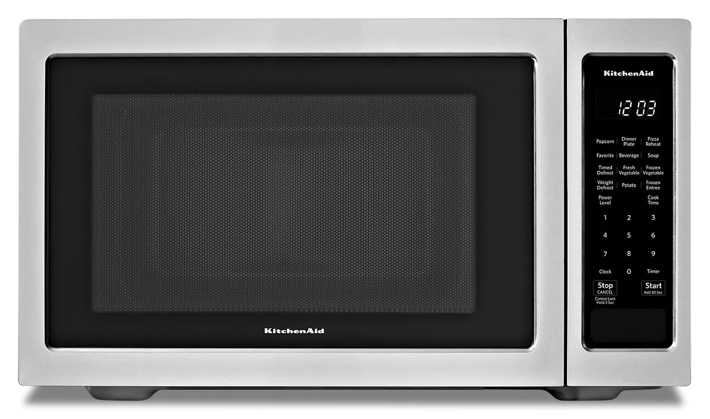 kitchenaid stainless steel countertop microwave oven ykmcs1016gs