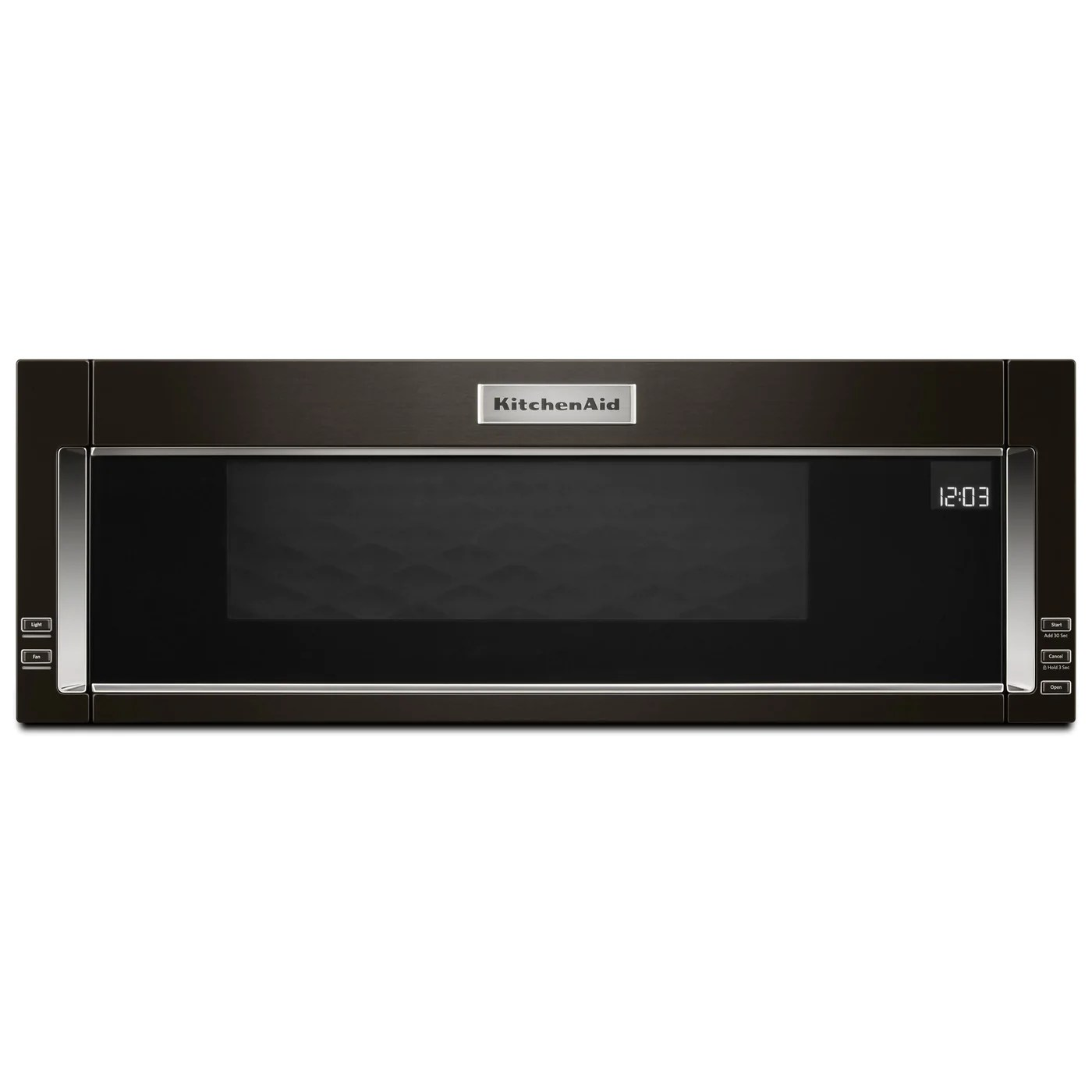 kitchenaid 1 1 cu ft low profile microwave hood combination ykmls311hbs
