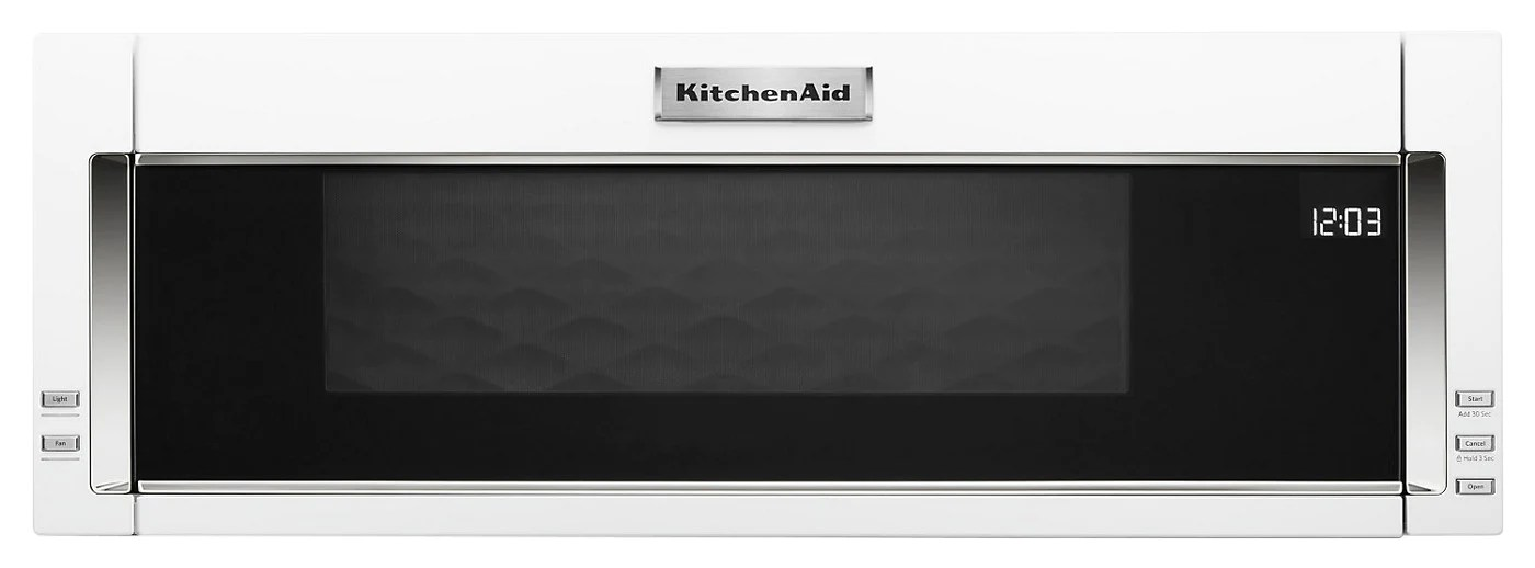 kitchenaid 1 1 cu ft low profile microwave hood combination ykmls311hwh