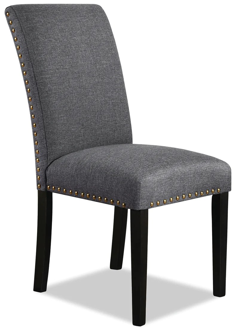 york studded dining chair grey chaise de salle a manger york avec clous decoratifs