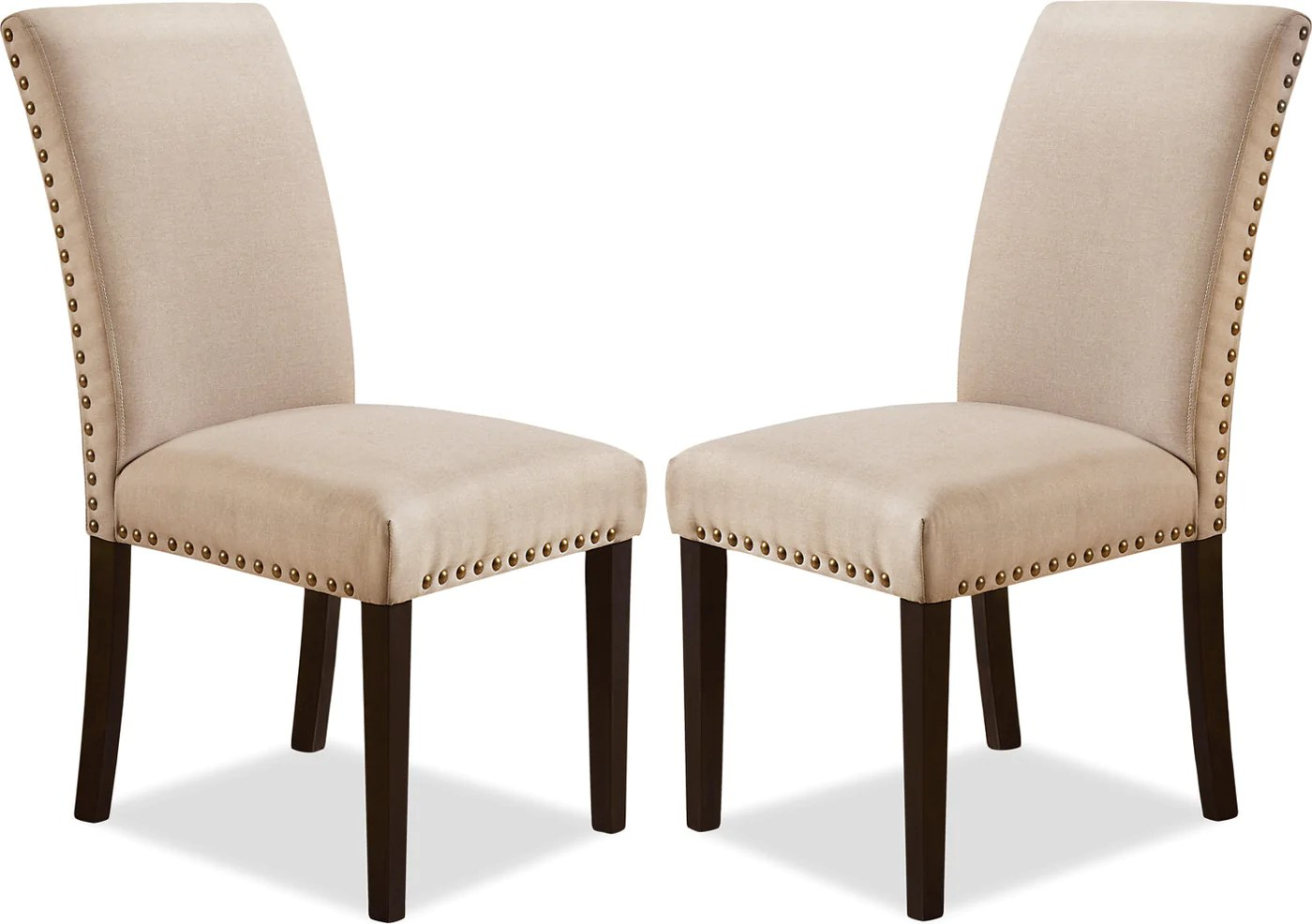 Studded Dining Chairs York Studded Dining Chair Set Of 2 Taupe