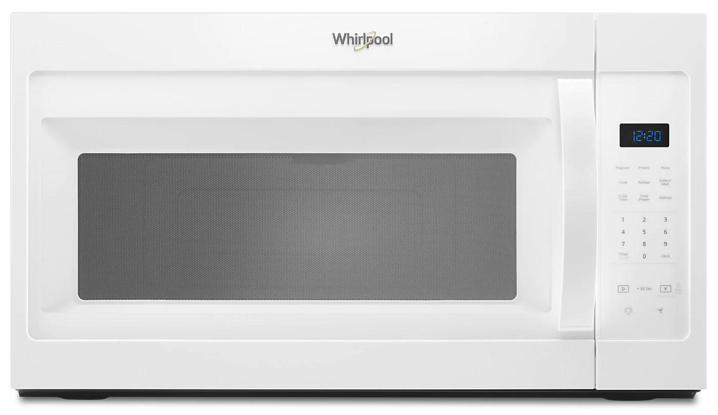 whirlpool 1 7 cu ft over the range microwave ywmh31017hw