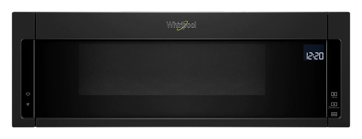 whirlpool 1 1 cu ft low profile microwave hood combination ywml75011hb