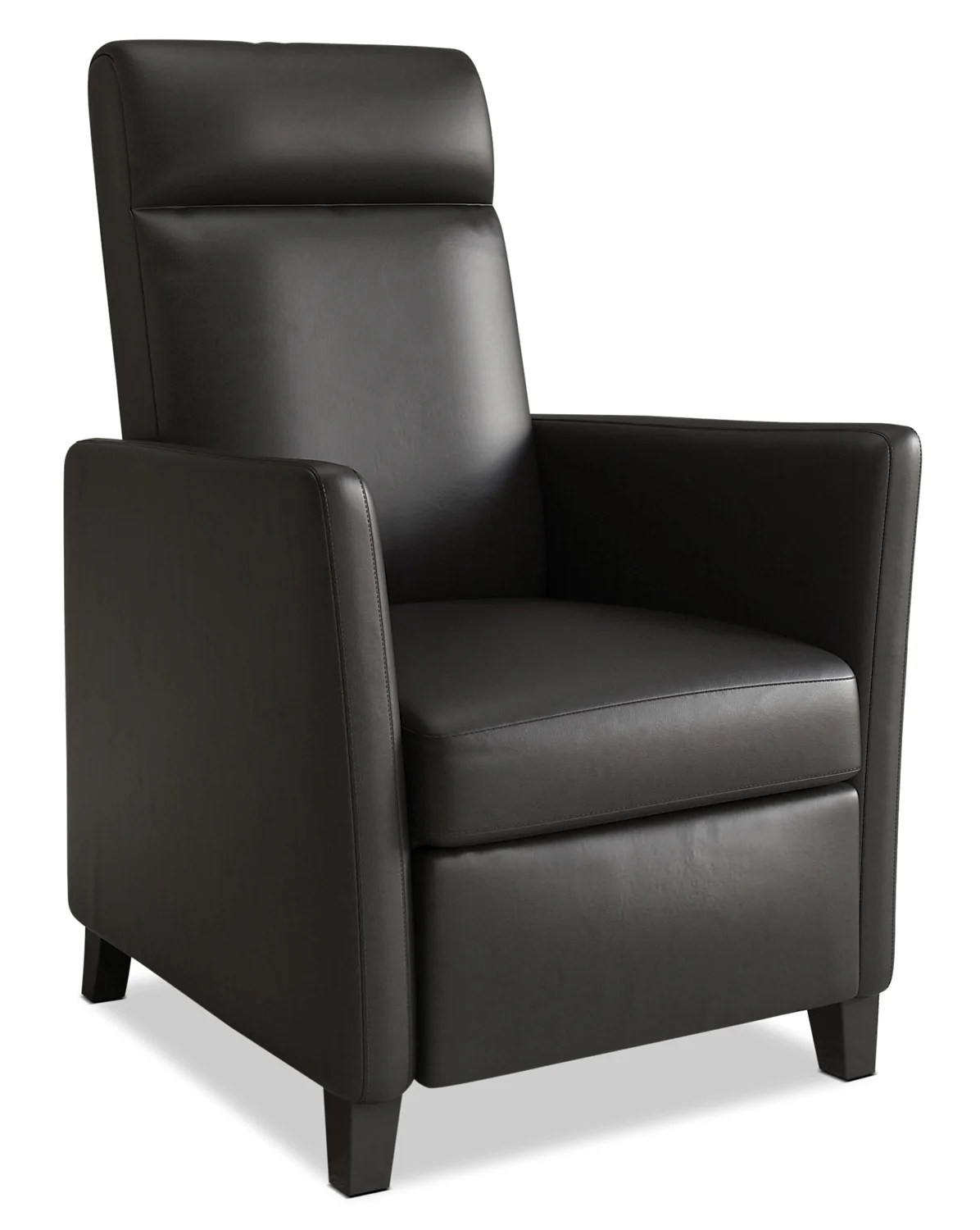 Modern Recliner Chair Zoe Bonded Leather Modern Accent Reclining Chair Black