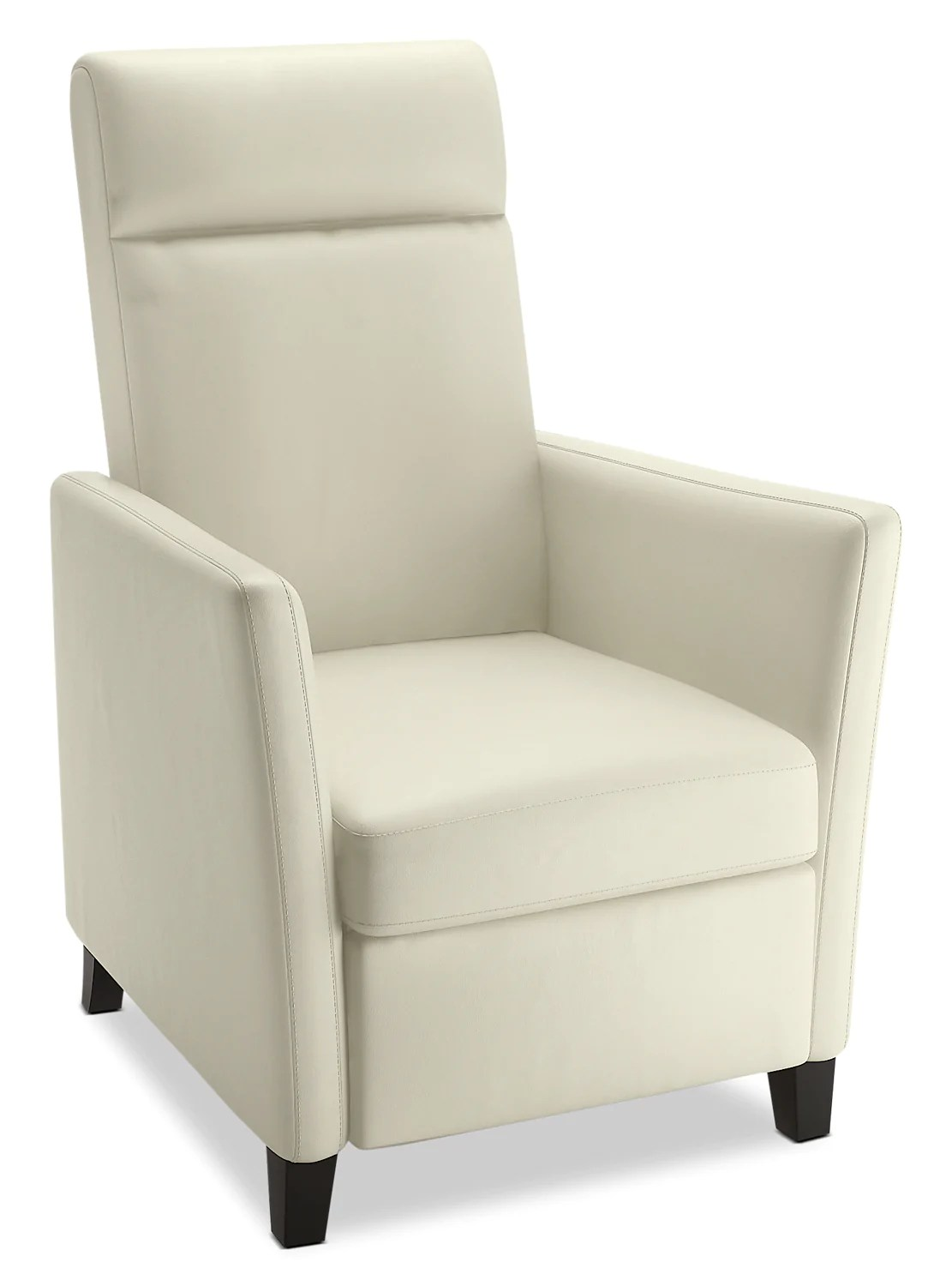 Modern Recliner Chair Zoe Bonded Leather Modern Accent Reclining Chair White