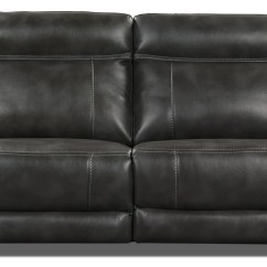 Grey Power Reclining Sofa Diy Simple Table Novo Leather Look Fabric The Brick Touch To Zoom
