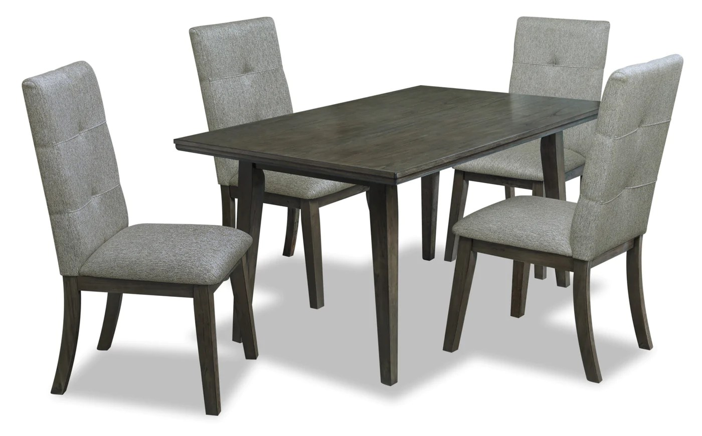 Chelsea 5 Piece Rectangular Dining Package Grey Brown The Brick