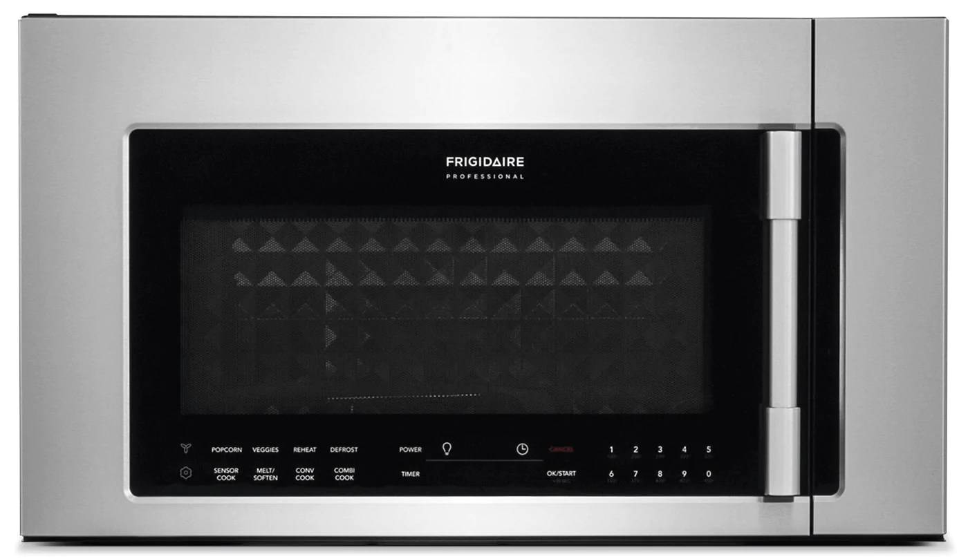 frigidaire professional 1 8 cu ft two in one over the range convection microwave