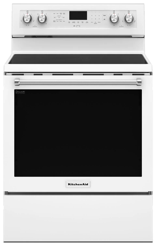 kitchen aid stove countertop ideas cheap kitchenaid 6 4 cu ft five element electric convection range white tap to expand