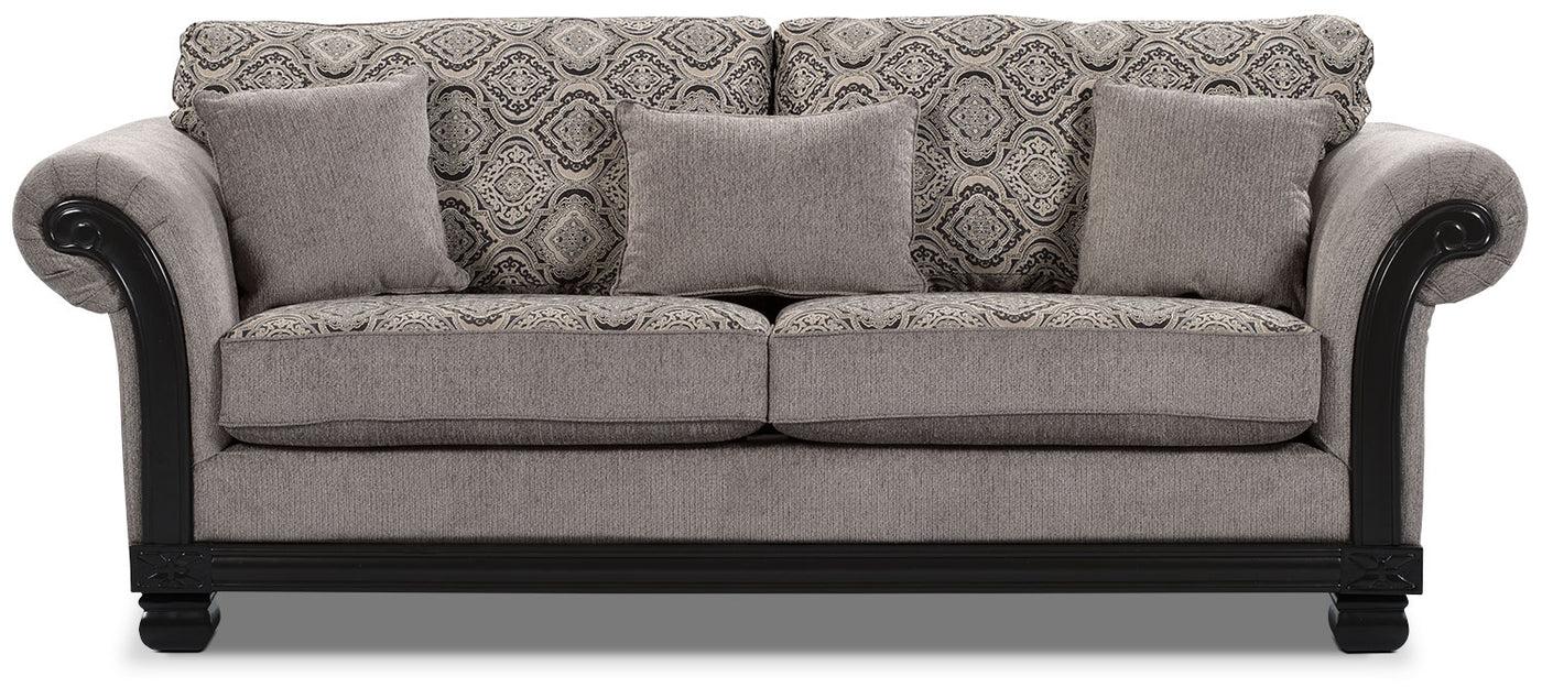 hazel chenille sofa grey