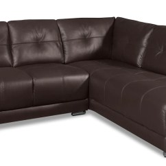 2 Piece Brown Leather Sofa Dwell Beds Rylee Genuine Right Facing Sectional The Brick Brownsofa Sectionnel De Droite Pieces En Cuir Veritable Brun
