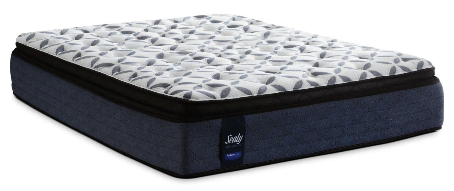 sealy posturepedic performance kingsmill pillow top plush king mattressmatelas moelleux a plateau coussin kingsmill posturepedic performance de sealy pour
