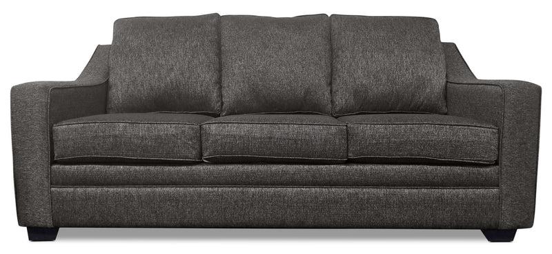 corner sofa bed east london plastic wrap storage sofas the brick shay chenille grey en gris