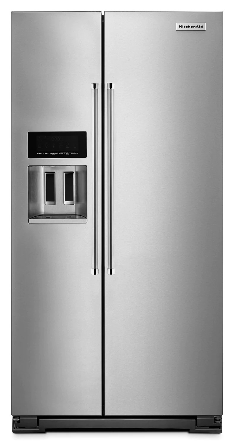 kitchen refrigerator remodel how to kitchenaid 22 6 cu ft counter depth side by s stainless steelrefrigerateur de pi a compartiments juxtaposes acier inoxydable