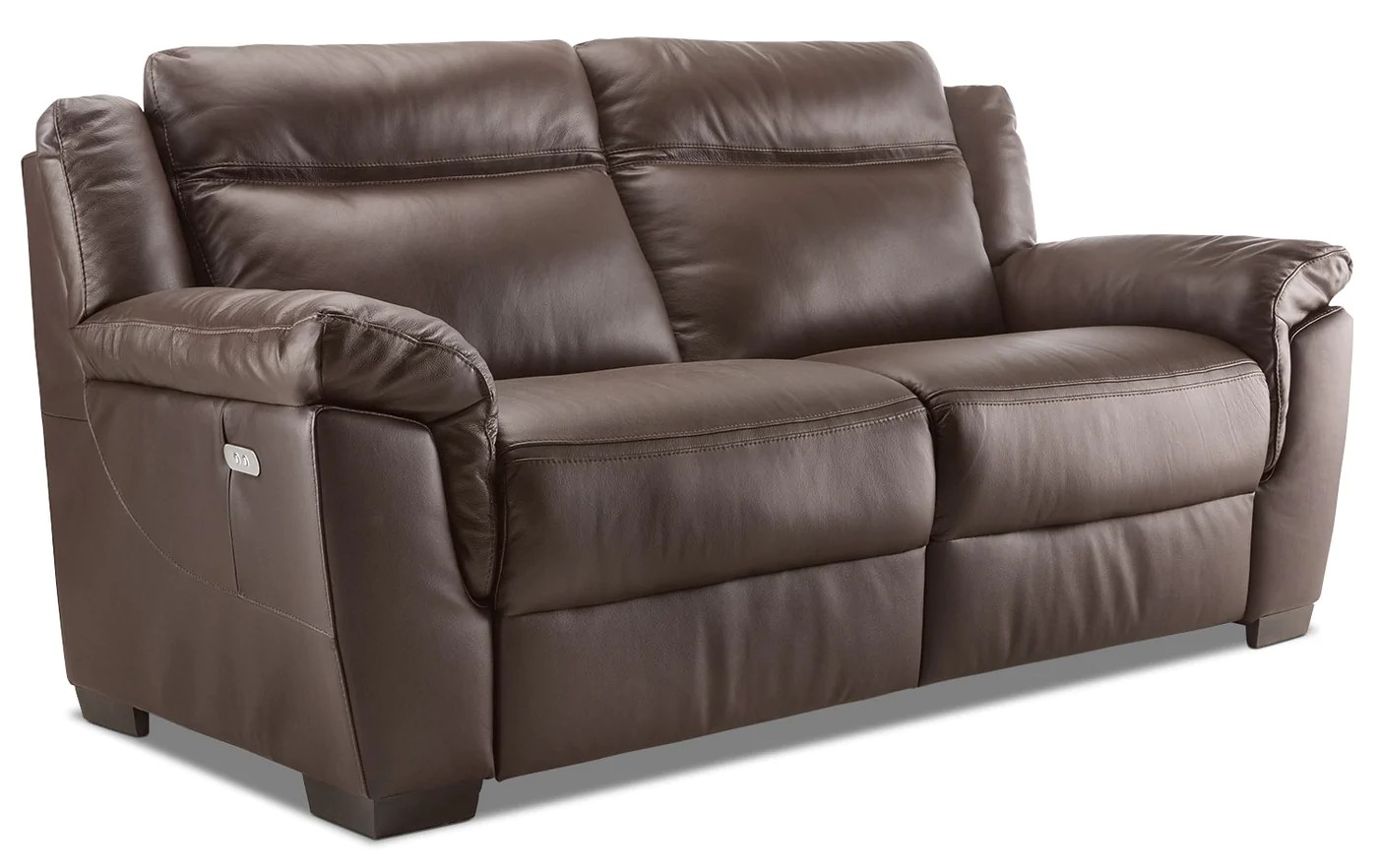 Charmant Natuzzi Editions Lemans Genuine Leather Power Reclining Sofa