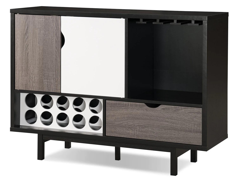 perth bar cabinet with wine storagearmoire bar perth avec rangement pour le vin