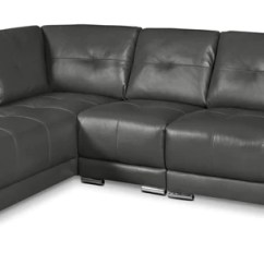 Leather Living Room Furniture Sectionals Theme Colors The Brick Rylee 3 Piece Genuine Left Facing Sectional Grey