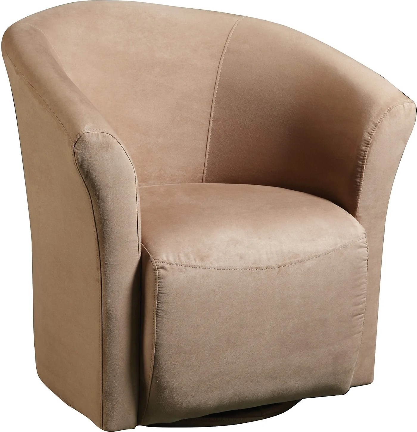 Swivel Tub Chair Mocha Microfibre Swivel Tub Chair