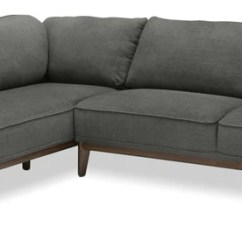 Loft Charcoal Sofa Bed Latest Office Designs Sectionals The Brick Gena 2 Piece Linen Look Fabric Left Facing Sectional