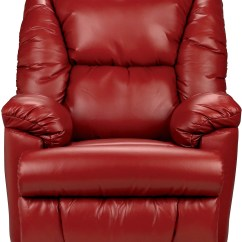 Red Recliner Chairs Fishing Bed Chair Mattress Bmaxx Bonded Leather Power Reclining The Brick Redfauteuil A Inclinaison Electrique En Cuir Contrecolle Rouge