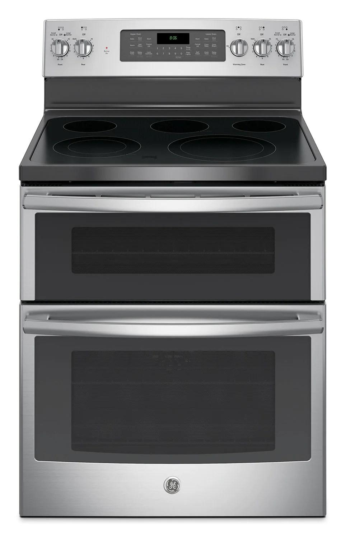 kitchen ovens white glass backsplash ge 6 cu ft freestanding double oven electric range jcb865sjss jcb865sjsscuisiniere electrique amovible de pi a four