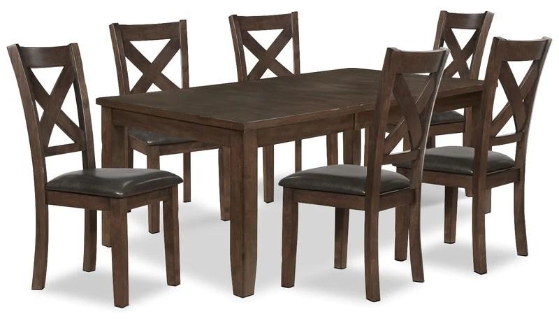 purple dining chairs canada antique bankers chair parts sets the brick talia 7 piece package ensemble de salle a manger pieces