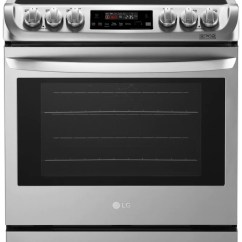 Stove Kitchen Granite Countertops Cost Ranges The Brick Lg 6 3 Cu Ft Electric Slide In Range With Probake Convection