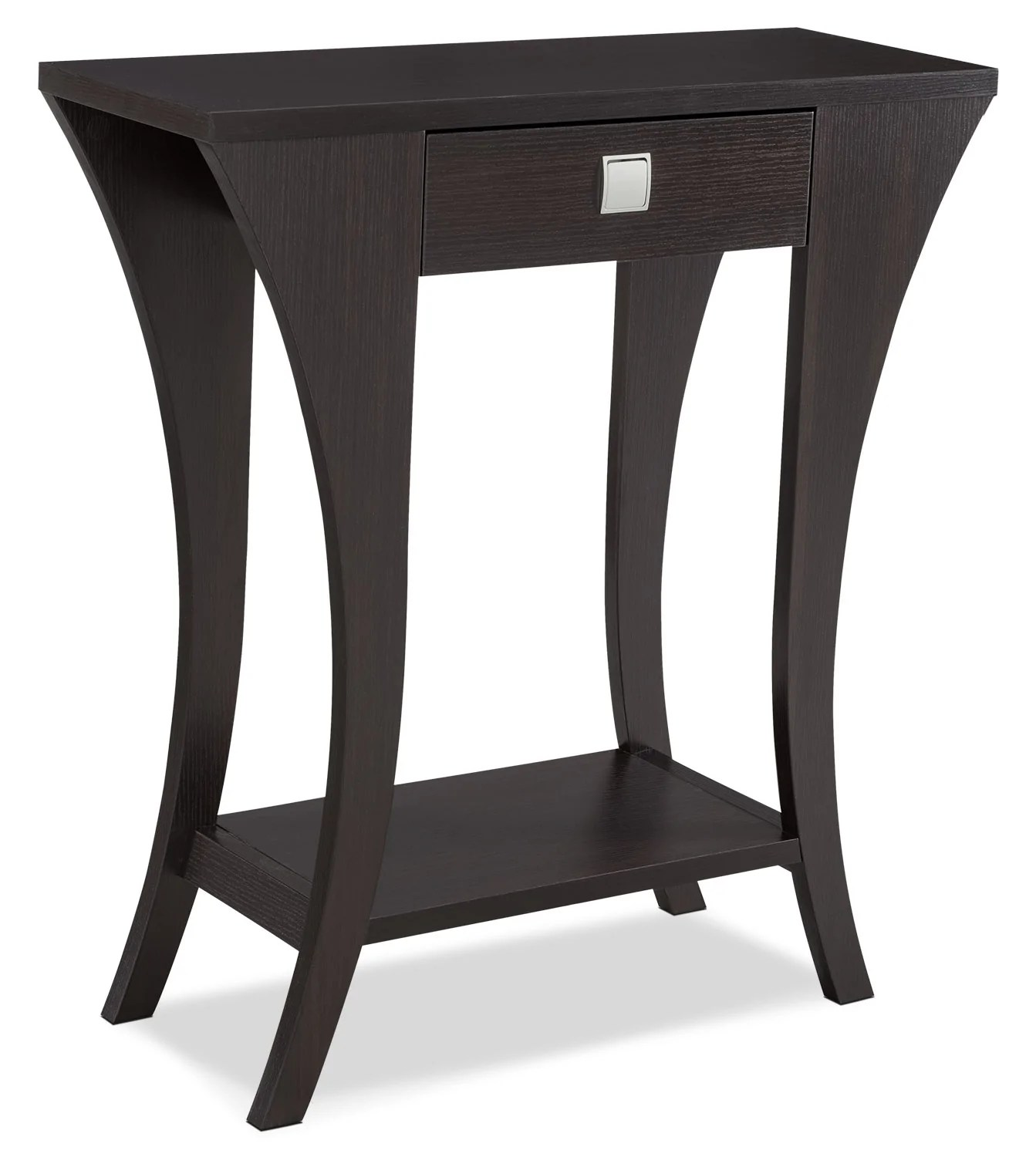 sofa table size round dining with seating manila console the brick tableconsole