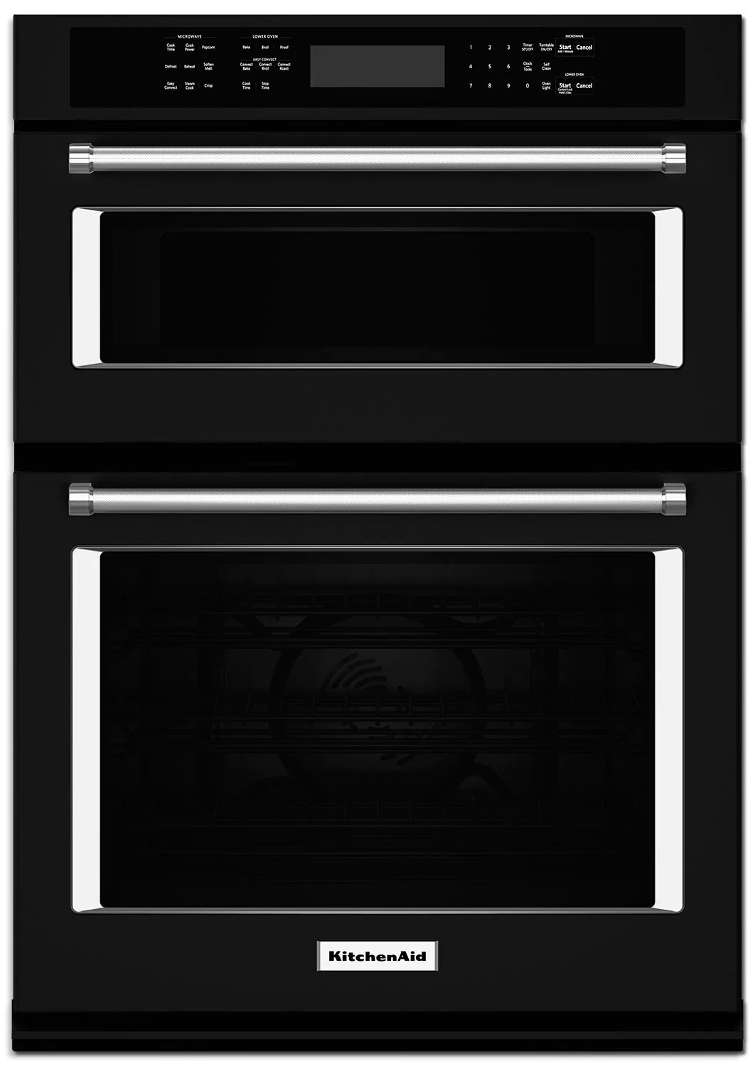 kitchenaid 30 double wall oven with microwave and conventional oven koce500ebl