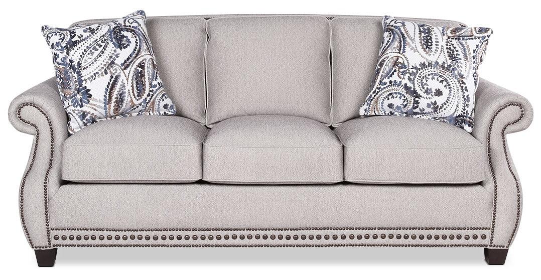 8 way hand tied sofa brands in canada reviews haden linen look fabric grey the brick greysofa en tissu d apparence lin gris