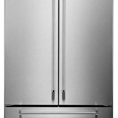 Kitchen Air Locking Trash Can Kitchenaid 24 2 Cu Ft Built In French Door Refrigerator Kbfn502essrefrigerateur Encastre Avec Portes Francaises De Pieds Cubes